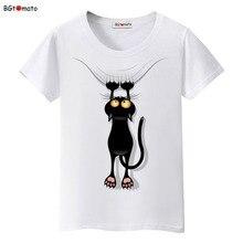 BGtomato Hot sale summer naughty black cat 3D T shirt women lovely car