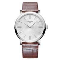 GUANQIN GS19026 Super Slim Для мужчин s Watch Top Элитный бренд ультра тонкие часы Для мужчин кожа Водонепроницаемый Relogio Masculino Esportivo