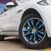 Fit For F PACE Hub Wheels Film Electroplat Color Sticker FPACE 2016 Coated Fiber Style Rim