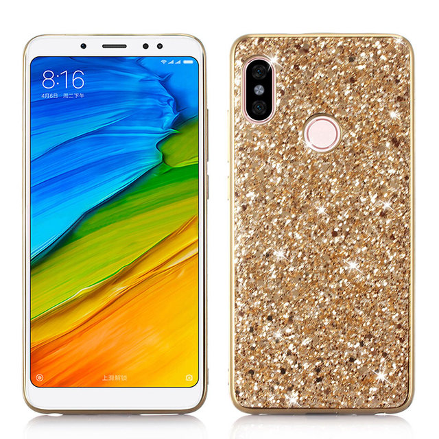 brand new 373c1 ebf4d US $3.01 32% OFF|Phone Case for Xiaomi Redmi Note 5 Pro Case Silicon Bling  Glitter Crystal Sequins Soft TPU Cover Fundas for Xiaomi Redmi Note 5P-in  ...