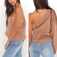 2017 Autumn New Arrival Sweater Women Casual Women Sweater And Pullovers Knitted O-neck Solid Tops Single sleeves