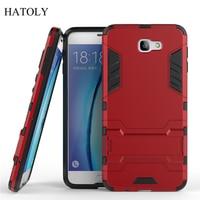 Para la cubierta de Samsung Galaxy J7 Prime funda de goma Armor Hard Phone funda para Samsung Galaxy J7 Prime funda para Samsung j7 primer