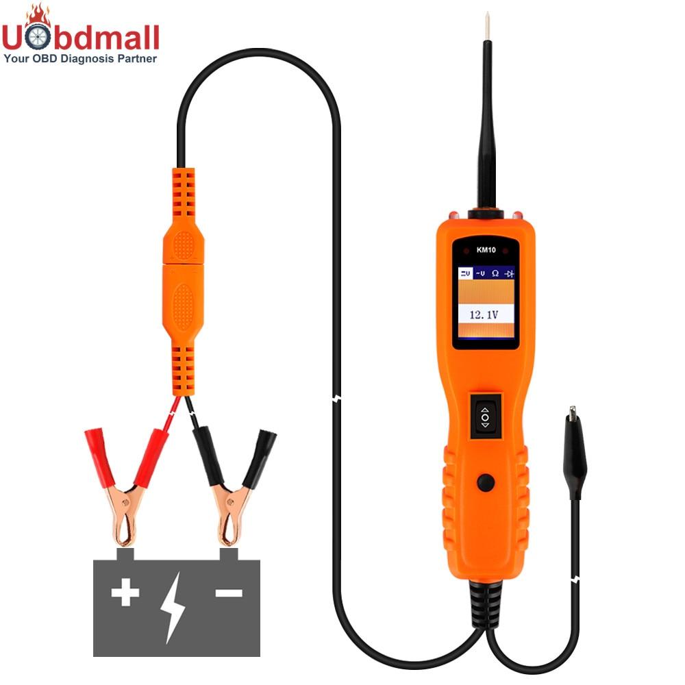 Prix pour Livraison Gratuite PowerScan KM10 Électrique Circuit De Diagnostic Testeur KM-10 Automobile Analyseur De Puissance PK PT150 YD208 VSP200 PS100