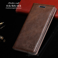 OnePlus Three Phone Case Luxurious Real Genuine Leather Folded Leather Case Stents Case Flip Case For