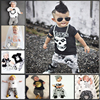 2016 Autumn Baby Boy Girl Cotton Clothes Set Baby Clothing Set Fashion Long Sleeved Letter
