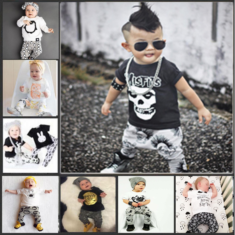 2017 Summer Baby Fashion Style Baby Boy Clothes Set Baby Girl Clothes Soft And Comfortable T