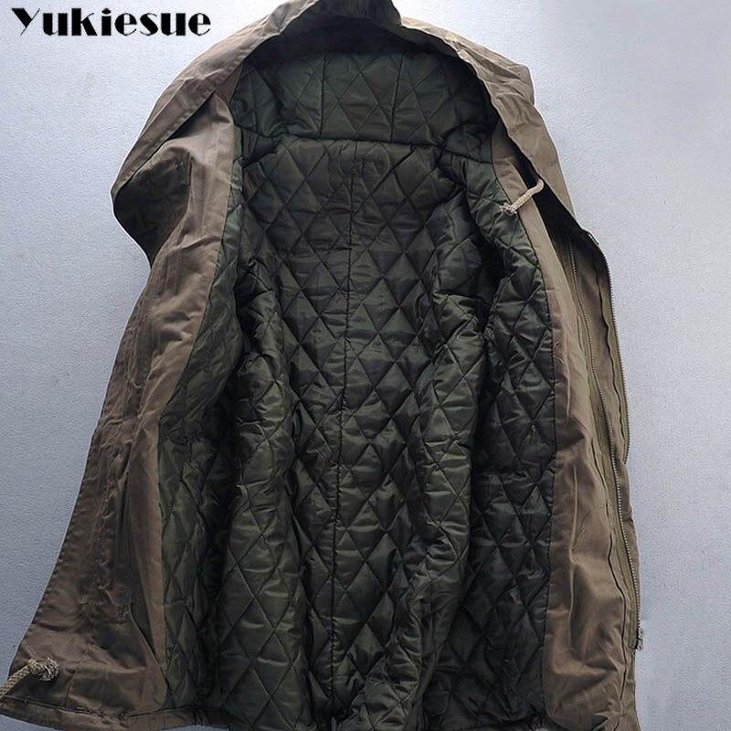 2018 nouveaux hommes rembourré Parka coton manteau hiver à capuche veste hommes mode grande taille manteau épais chaud Parkas noir armée vert 6XL - 4