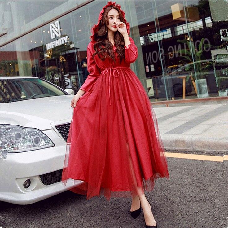 Freeship red hood long dress/cosplay/cartoon costume/dress