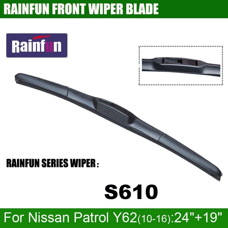 RAINFUN специальный автомобиль стеклоочистителя для Nissan Patrol Y62(10-16), 24+ 19 дюймов автомобиль стеклоочистителя с высоким качеством резины, 2 шт. в партии