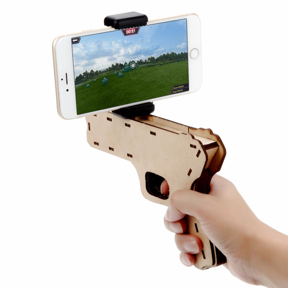 AR Game Gun 3D Puzzle Augmented Reality Console Bluetooth Remote Control Video Game Mobile Gaming System wireless Controller augmented reality navigation
