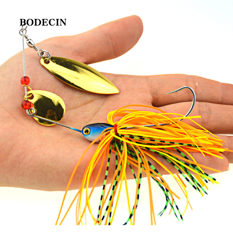 1PS Fishing Lure Wobblers Lures Wobbler Spinners Spoon Bait For Pike Peche Tackle All Artificial Baits Metal Sequins Spinnerbait
