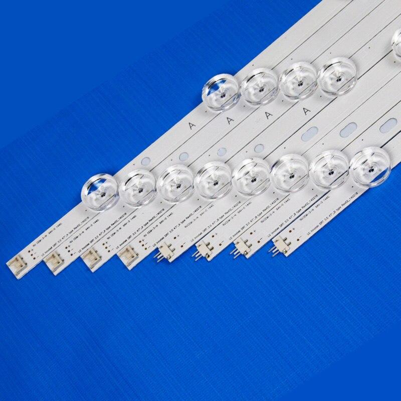 8 Piece/Set LED Backlight Strip For LG 47LB580V 47LB580B 47LB580N 47LB580U 47LB5800 47 Inchs TV Backlight LED Bands Bars Lamps