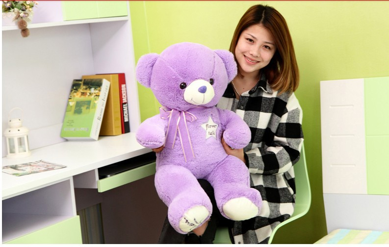 ФОТО lovely lavender  teddy bear toy plushed toy purple stuffed bear toy birthday gift  about 65cm