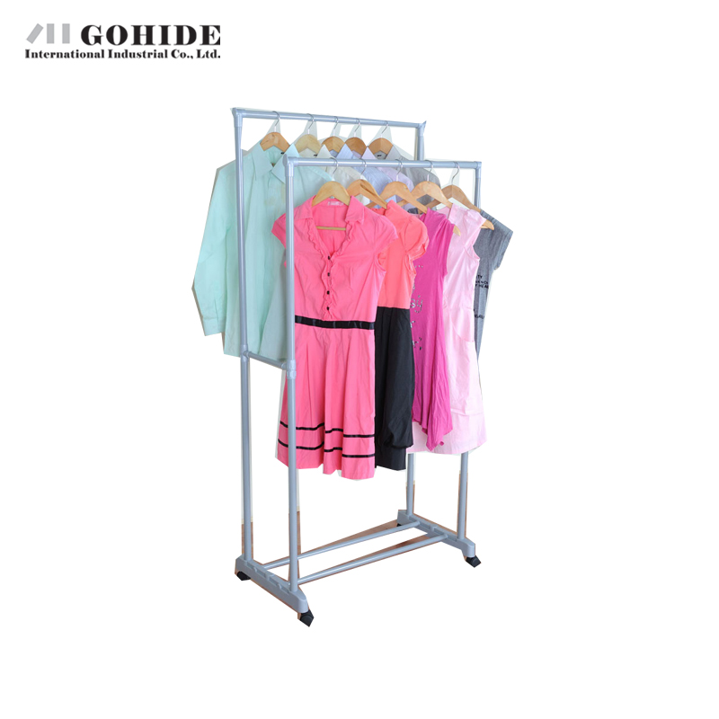 Gohide 2016 New Arrival Home Furniture Double Racks Landing Drying Rack Hangers Yj3090 Coat Racks Living Room Furniture