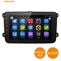 FEELDO 8inch Ultra Slim Android 6 0 Quad Core Car Media Player With GPS Navi Radio