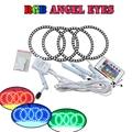 Multi-Color RGB Led Angel Eyes Для Bmw E30 E32 E34 Фар DRL С 4 Шт. 120 ММ Гало Колец и 1 ШТ. ИК Пульт дистанционного управления