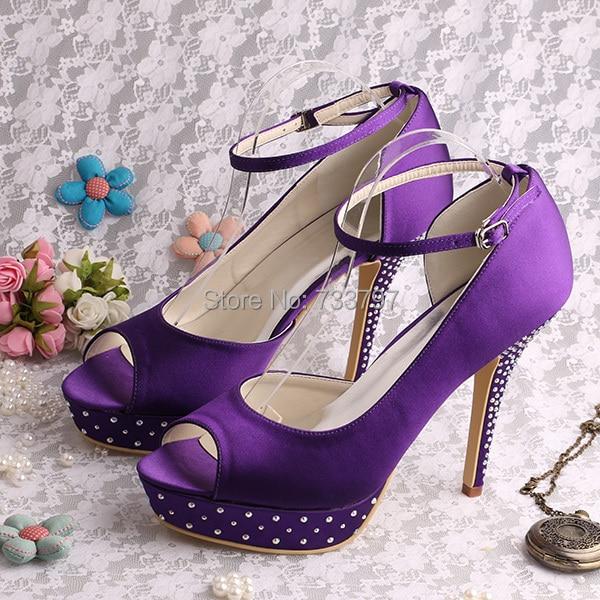 ФОТО (20 Colors)Womens Platform Shoes Crystal Wedding Bridesmaid Dress Studded Heels
