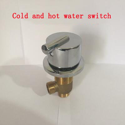 Linear cold and hot water switch, Brass shower room mixing valve water separator, Bathroom bathtub shower faucet mixer
