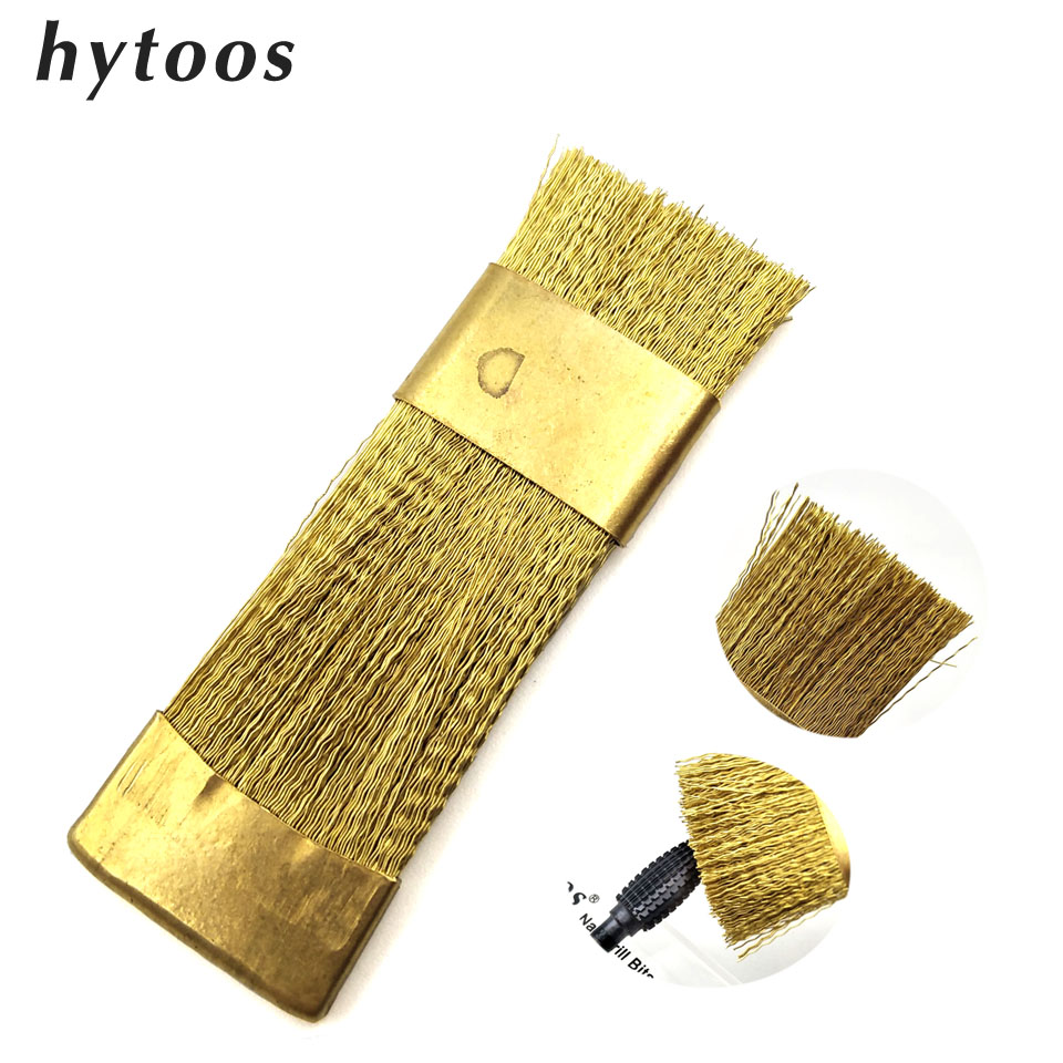 HYTOOS 1Pc Nail Drill Bits Cleaning Brush Copper Wire Brushes For Electric Manicure Drills Brusher Clean Tool