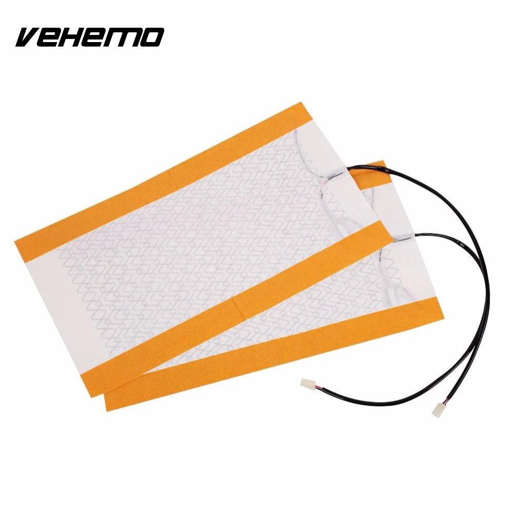 Vehemo 2pcs Lot Carbon Fiber Heating Padscar Seat Heater Pads Winter Warmer Cushion For Car