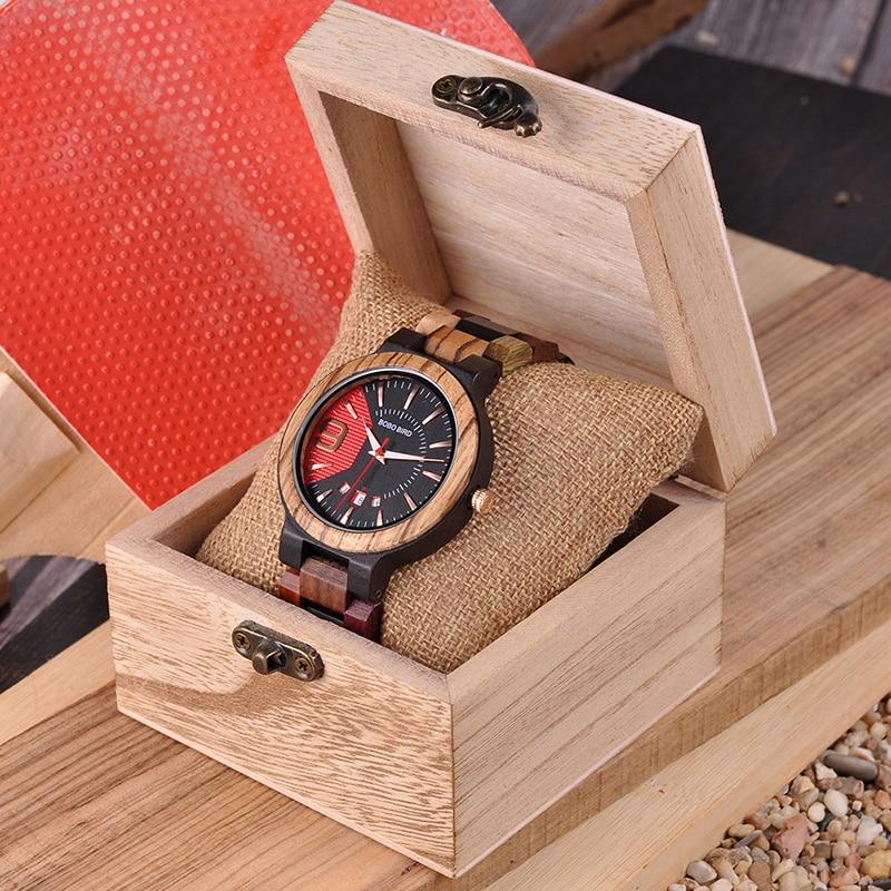 BOBO VOGEL Kleurrijke Luxe Houten Horloges Mannen Uurwerken Mode - Herenhorloges - Foto 6