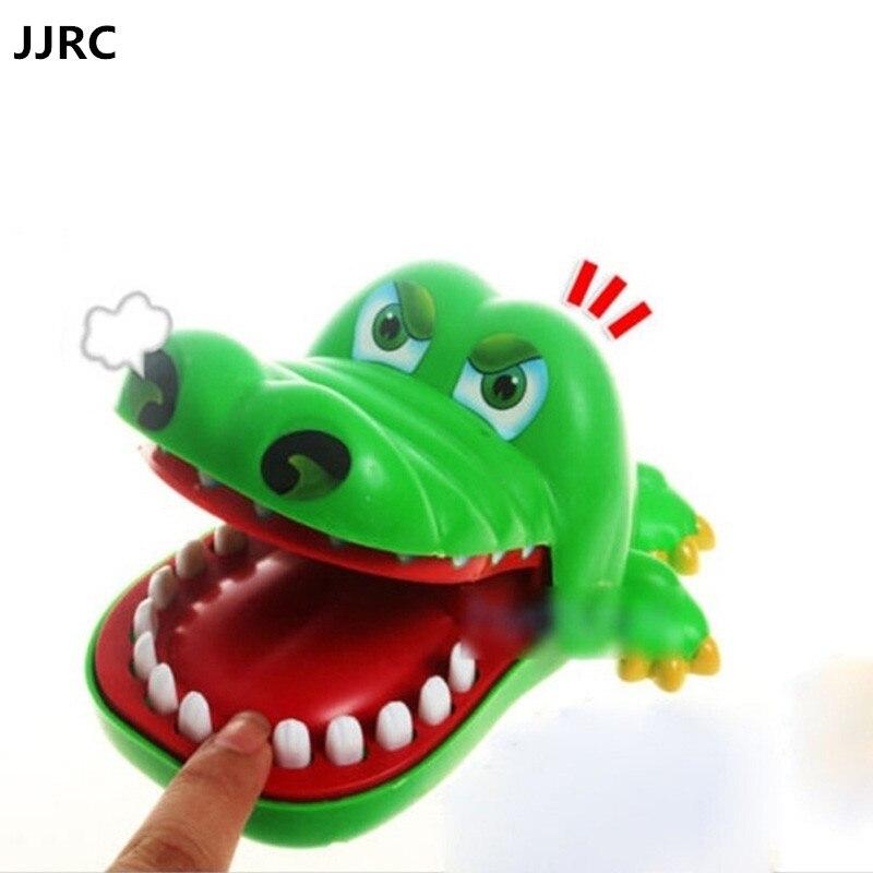 Зеленый крокодил большой рот игрушки Укус палец игры Забавные игрушки Семья Шутки игрушка-брелок