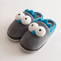 Winter Cute Flannel Kids Slippers Warm Plush Baby Home Slippers Boys Girls Toddler Shoes Child Flip