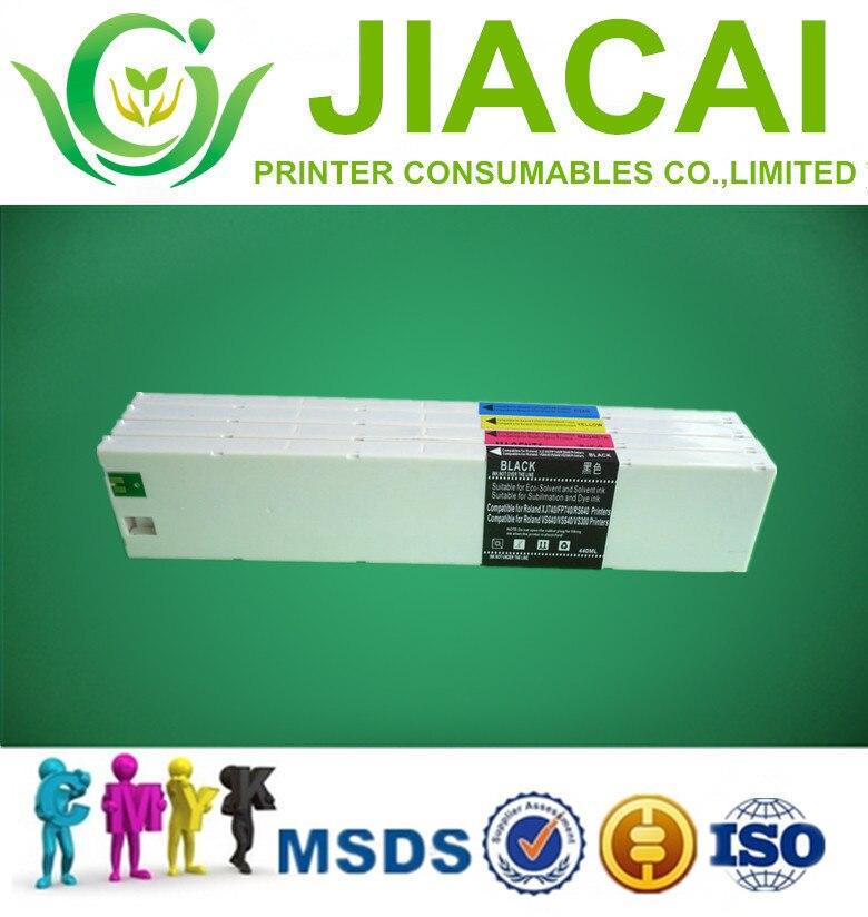 Good 100% compatible 440ml RS-540 ink cartridge for Roland 4colors pritner [large format printer parts] 6colors set 440ml roland color printer 440ml ink cartridge without chip