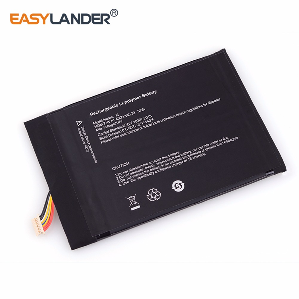 Easylander 7.4 v 4500 mah 33.3wh rechargeable li Polymère batterie POUR Tablette PC KUBI i7 I9handwritten version I7 MIX PLUS batterie