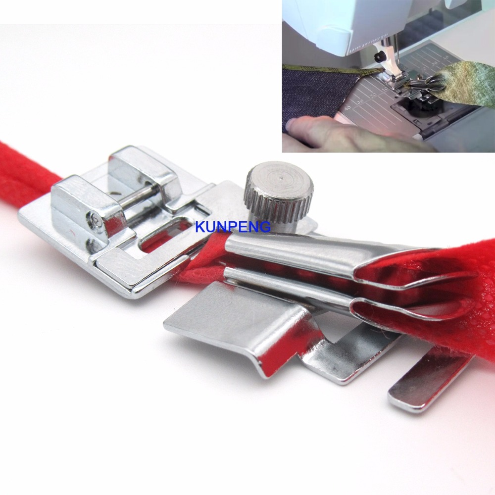Snap on Adjustable Metal Bias Tape binder foot fit for Domestic Sewing Machines # CY-9907Snap on Adjustable Metal Bias Tape binder foot fit for Domestic Sewing Machines # CY-9907