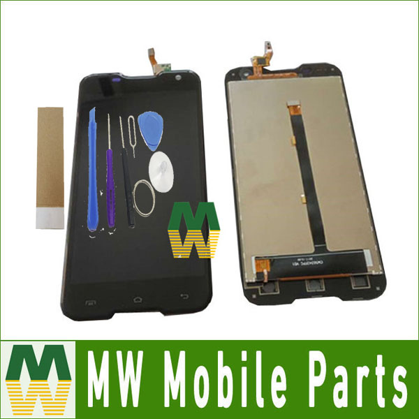1PC Lot High Quality For Blackview BV5000 Black Color LCD Display Touch Screen Digitizer Assembly With