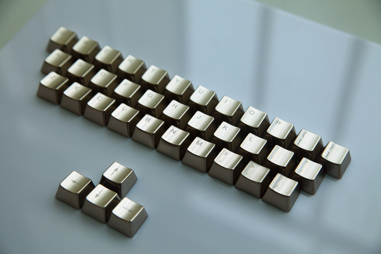 OEM Profil Silver Color Mechanical Keyboard 37 Key Metal Key Caps For Cherry MX Switch Keyboard