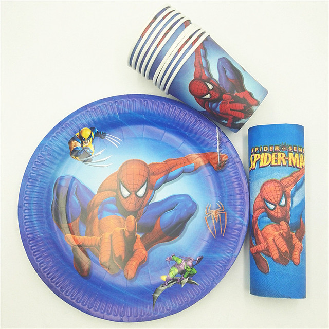 40pc/set Spiderman Theme Cup/Plate/Napkin Party Supplies For Boys Event Party  sc 1 st  AliExpress.com & 40pc/set Spiderman Theme Cup/Plate/Napkin Party Supplies For Boys ...