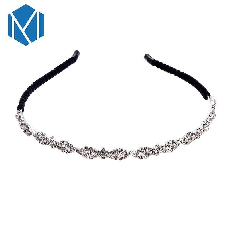 ... Fashion Women Crystal Headband Shiny Metal Flower Bow Hairband Girl Hair  Band Jewelry Female Rhinestone Pearl 6c8659cb9cc3