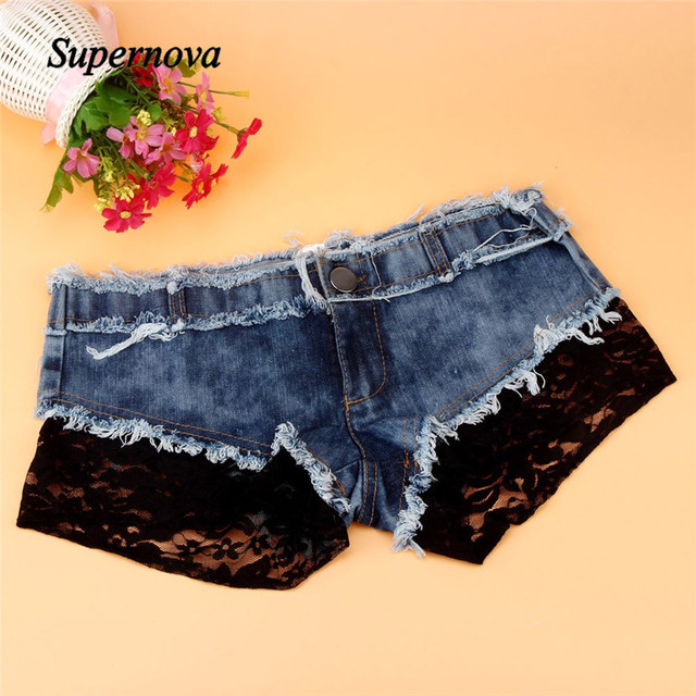 Hot Marketing  Sexy Women Denim Jeans Shorts Pants Low Waist Super Mini Short Pants WJul28