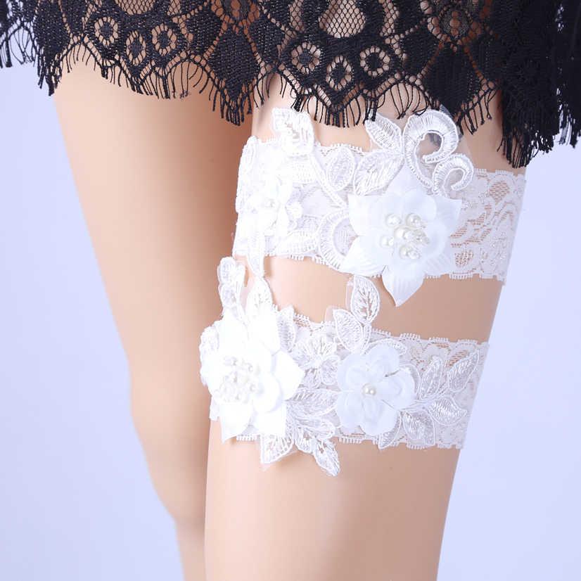 NEW Wedding Garter Set Bridal Garter set Lace Garter set Crystal Rhinestone Pearl Bridal Garter