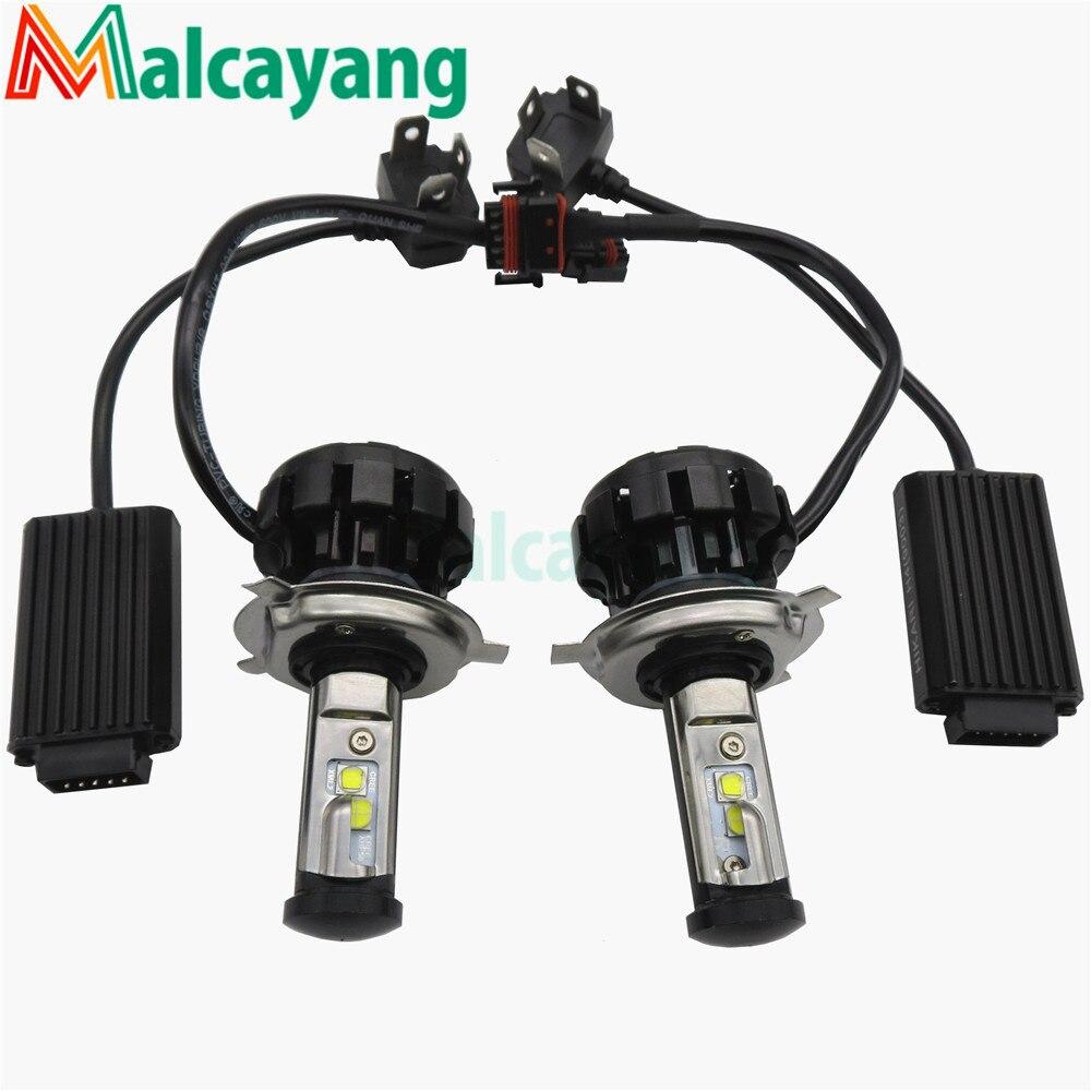 Newest V18 Turbo Type C Chips Led Headlight Fog Lamp H1 H4 H7 H13 Lighter 30W