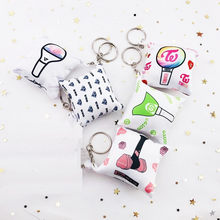Kpop BLACKPINK GOT7 EXO TWICE Seventeen Keychain Key Chains Cute Keyring key ring Pillow Hanging Jewelry Luxury Wholesale New(China)