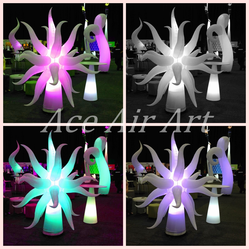 Coloruful Led Lighting tentcle Inflatable Actinia/ Inflatable Sea Anemones for Party Events and Show