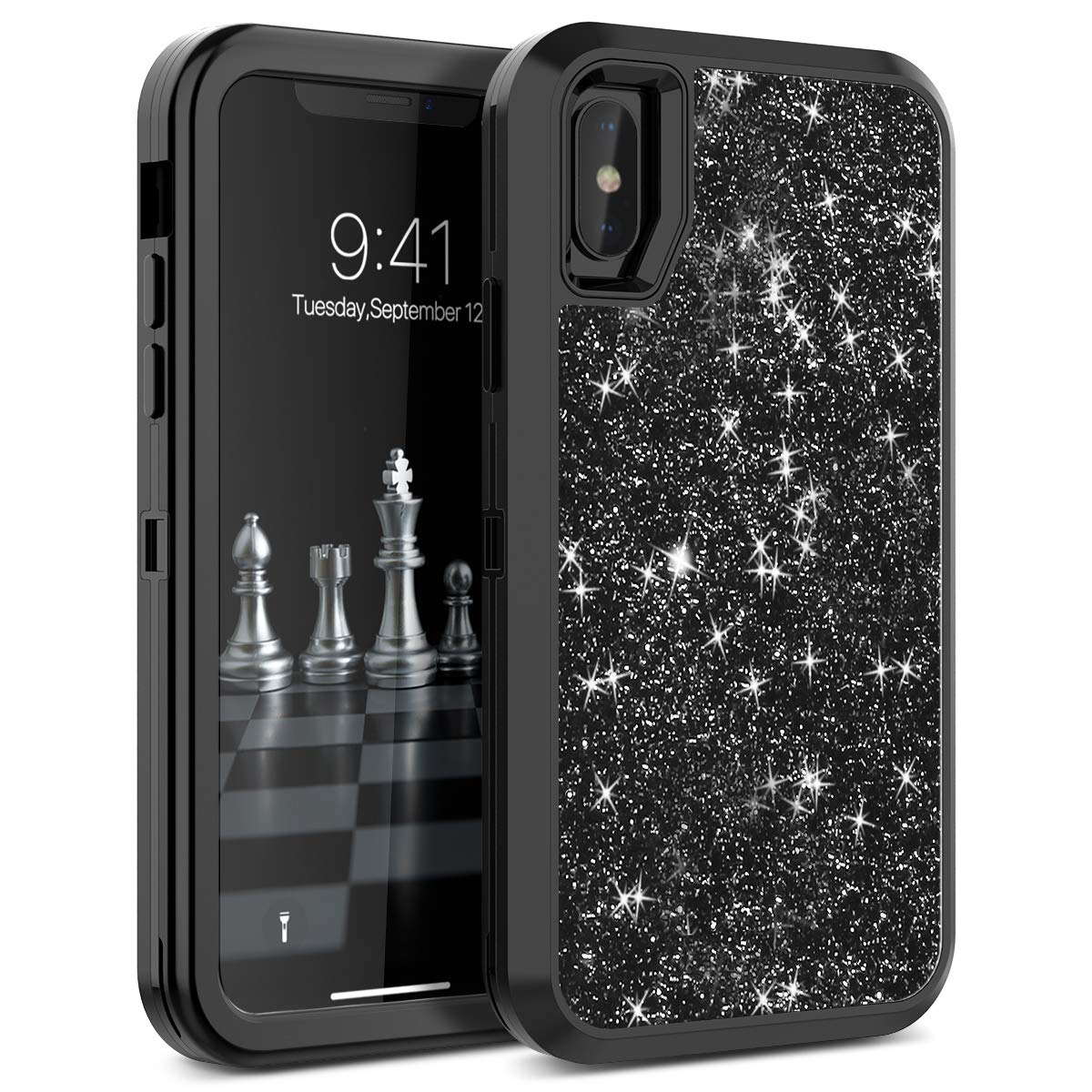 Shockproof Protect For Apple iPhone XR X XS Max Case Hybrid Hard Rubber Impact Armor Bling Phone Cases For iPhone 7 8 Plus Cover-in Fitted Cases from Cellphones & Telecommunications