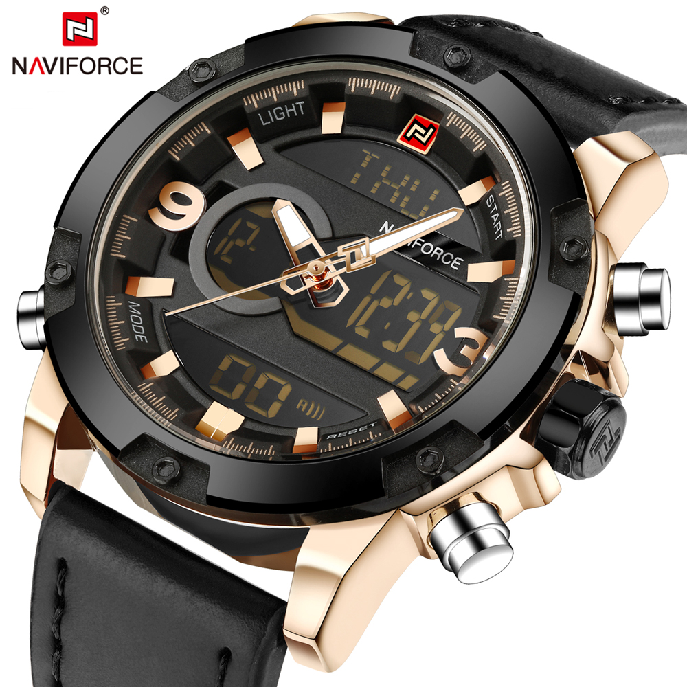 NAVIFORCE Brand Watches Men Fashion Casual Sport Men's Watch Army Military Male Clock Waterproof Wristwatch Relogio Masculino weide new men quartz casual watch army military sports watch waterproof back light men watches alarm clock multiple time zone