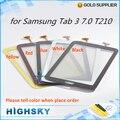 Pieza de repuesto de pantalla para samsung galaxy tab 3 7.0 t210 touch digitalizador cristal con flex cable de 1 unidades el envío libre