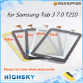 Replacement part screen for samsung galaxy tab 3 7.0 T210 touch digitizer glass with flex cable 1 piece free shipping