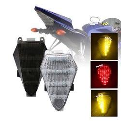 SPEEDPARK tył motocykla taillight tylny hamulec kierunkowskazy zintegrowane światło led lampa dym dla yamaha fz1 YZF R6 2008 2012 na