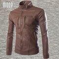 Черный Коричневый PU кожаная куртка мужчины пальто ветрозащитный куртка мотоцикла плюс размер moto chaqueta hombre весте cuir homme LT260