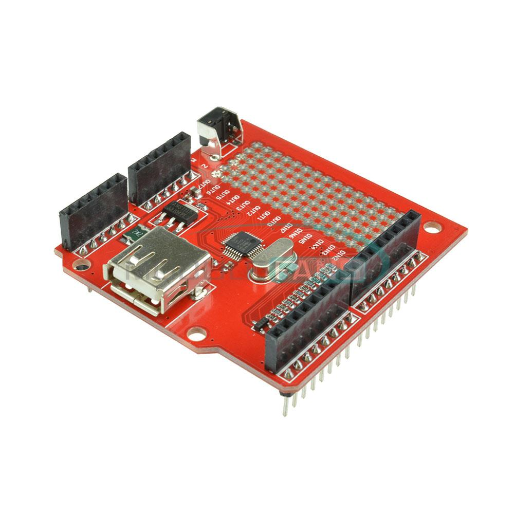 USB Host Shield for Arduino Compatible with Google Android ADK Support UNO MEGA