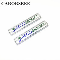 CARORSBEE 2 PCS 3D Metal Cars ECOBOOST ECO BOOST Emblem Badge Car Styling Rear Trunk Decal Sticker For F150 Taurus Mustang FOCUS