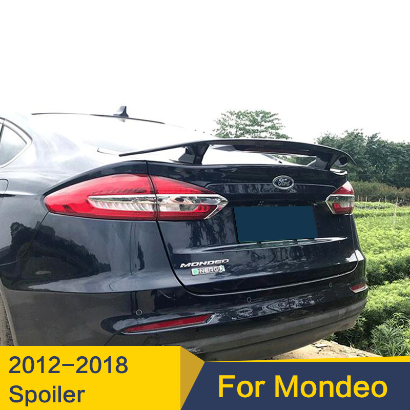 For Ford Mondeo Spoiler 2012  2018Year High Quality ABS Plastic Free Drilling Sport Racing Car Spoiler For Fusion|Spoilers & Wings| |  - title=