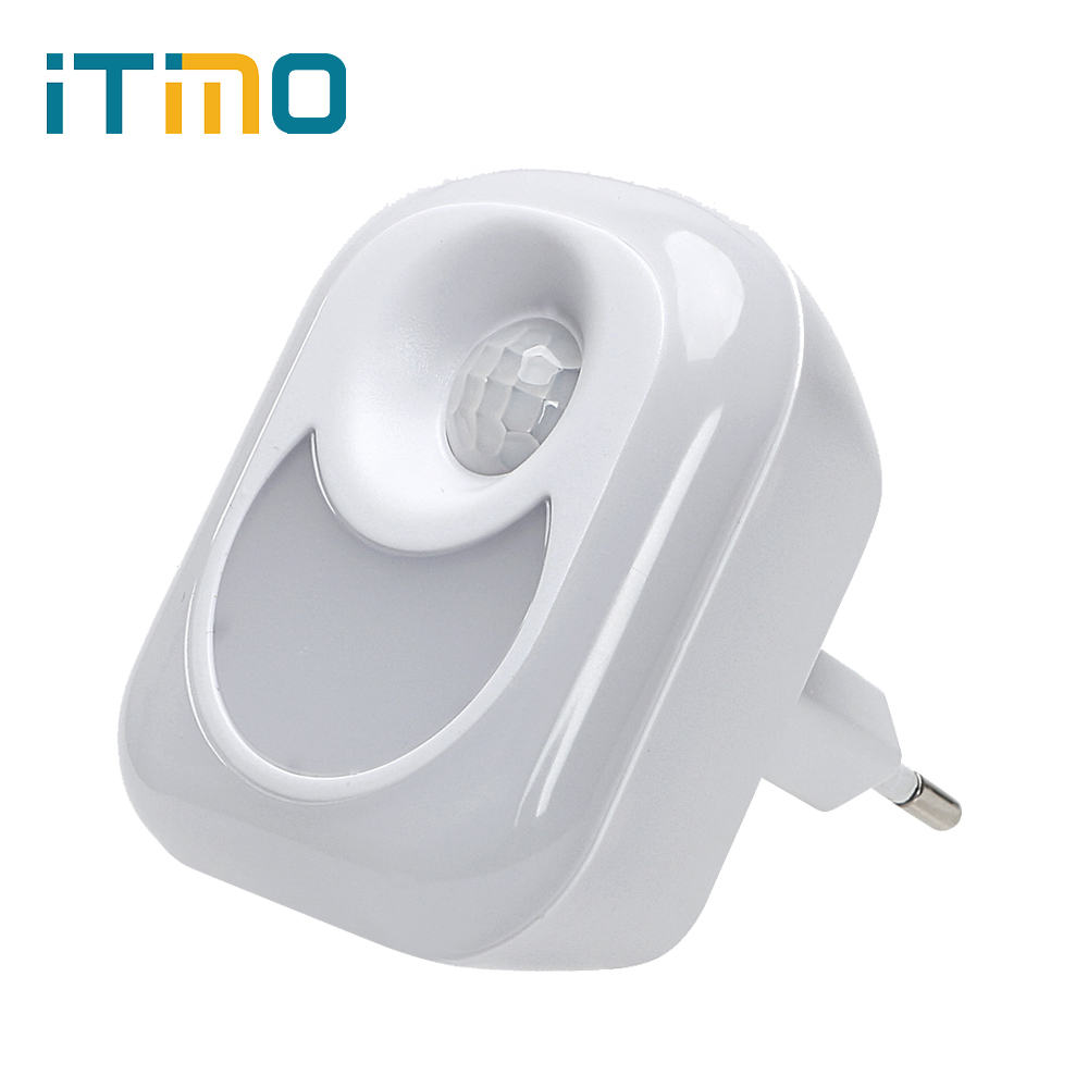 iTimo Smart LED Night Light PIR Human Infrared Motion Sensor Home Emergency Lamp for Baby Hallway Bedroom EU US Plug 110V 220V itimo wireless led bulb with remote control dimmable 220v e27 home indoor lighting night light us plug bedroom light lamp