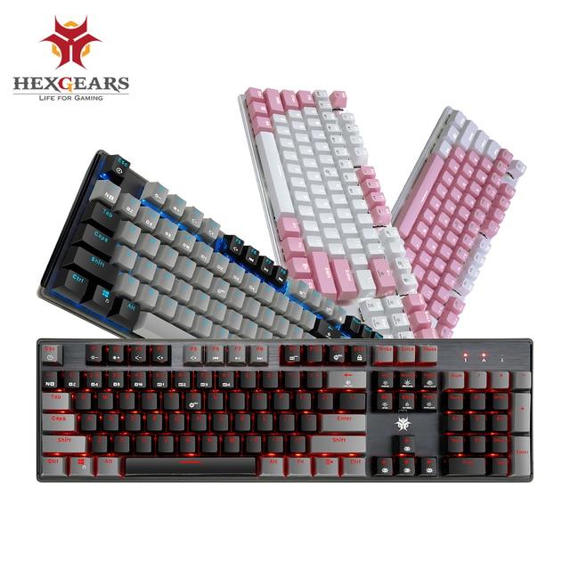 HEXGEARS GK715 Kailh BOX Switch Gaming Keyboard Waterproof Hot Swap 104 key Keyboard Pink Mechanical Gaming keyboard